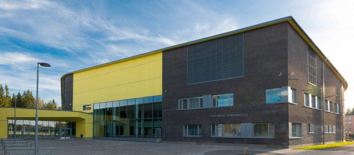 The façade , Huhtasuo School Campus