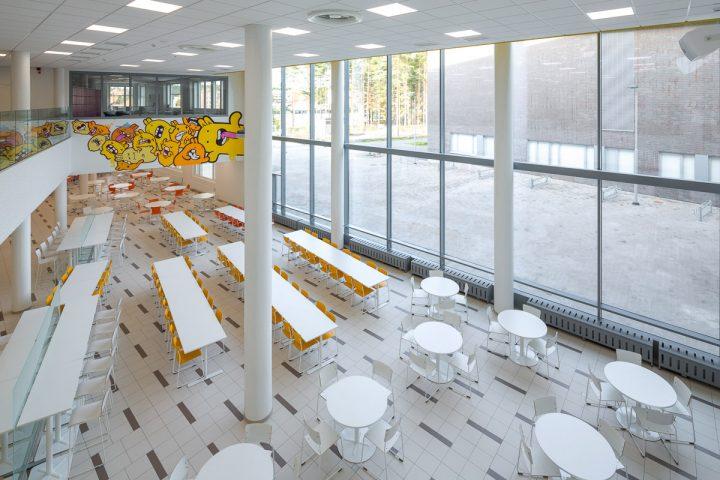The interior, Huhtasuo School Campus
