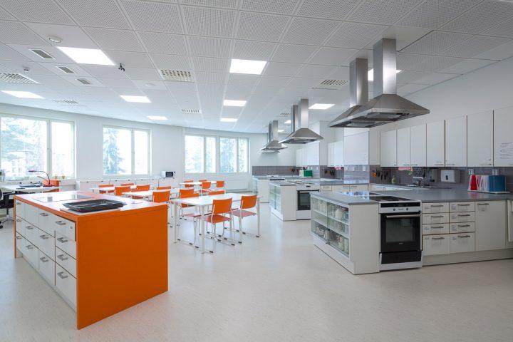 The home economics class room, Huhtasuo School Campus