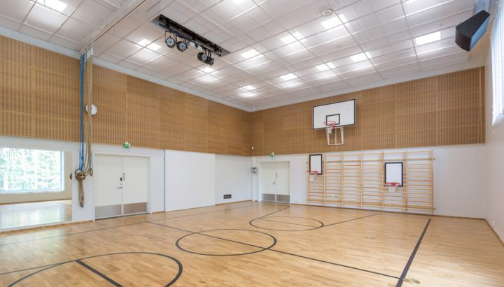 The gymnasium, Huhtasuo School Campus