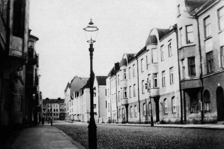 Street view in 1925, Huvilakatu Area