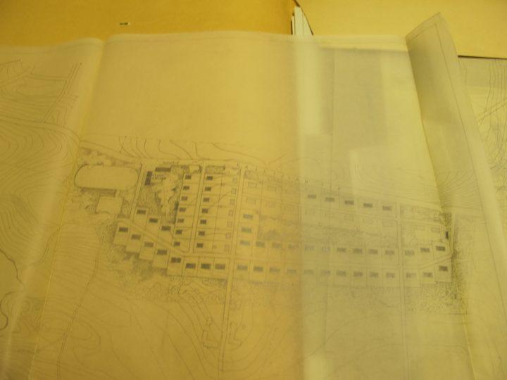 Draft for the town plan of Pääskylahti in Savonlinna, Wilhelm Schauman Company Houses