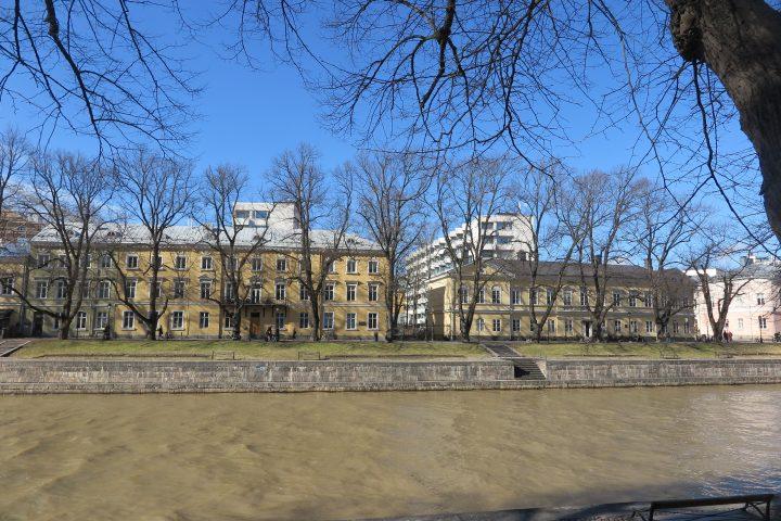 View from the river Aura, Carenia & Linnankatu 8 Housing