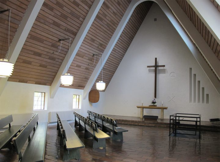 Smaller chapel interior, Honkanummi Funerary Chapel