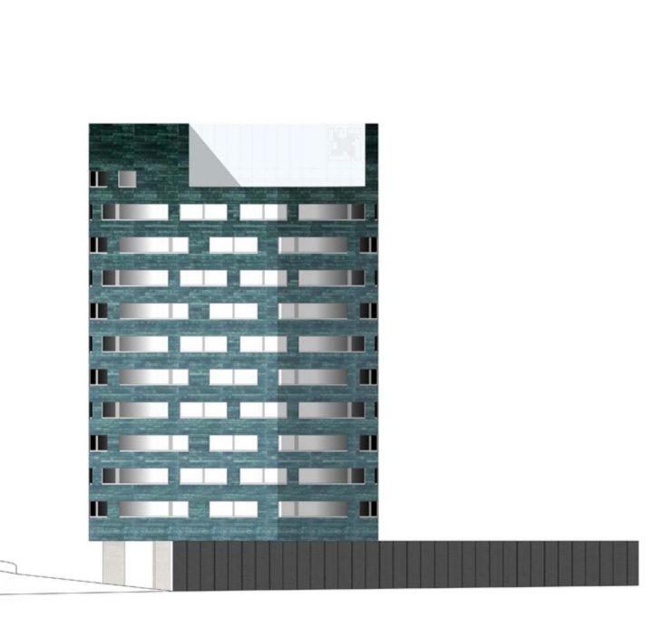 Southwest elevation plan, Ikituuri Student Housing
