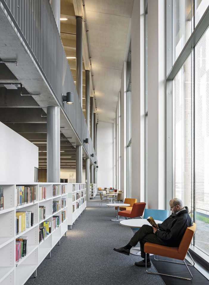Ground floor interior, Savonlinna City Library Joeli