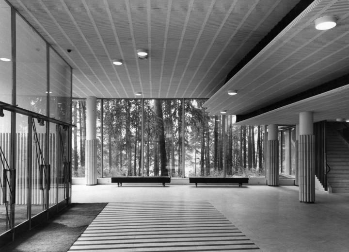 The lobby in the main building, University of Jyväskylä, the Aalto's Campus