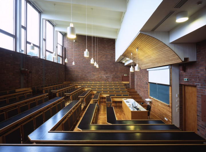 A lecture hall in the main building, University of Jyväskylä, the Aalto's Campus