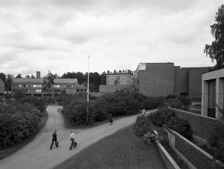 A view from the campus restaurant Lozzi, University of Jyväskylä, the Aalto's Campus