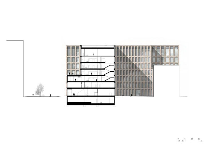 Section, Urban Environment House