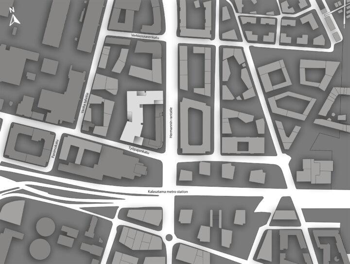 Site plan, Urban Environment House