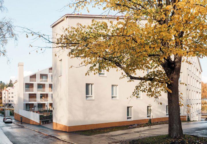 View from the south, Käpylän Posteljooni Housing