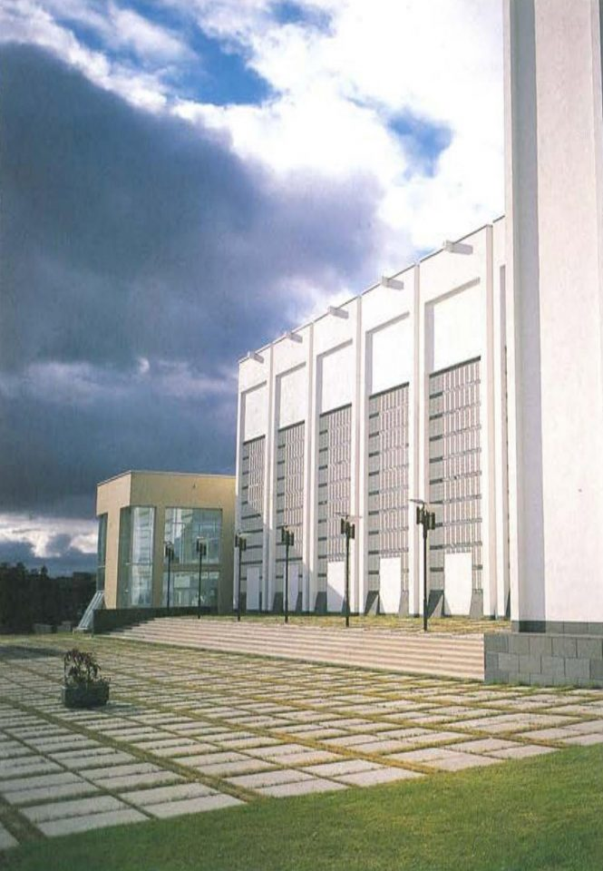 Concert hall elevation, Kaukametsä Cultural Centre