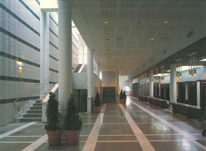 Main lobby, Kaukametsä Cultural Centre