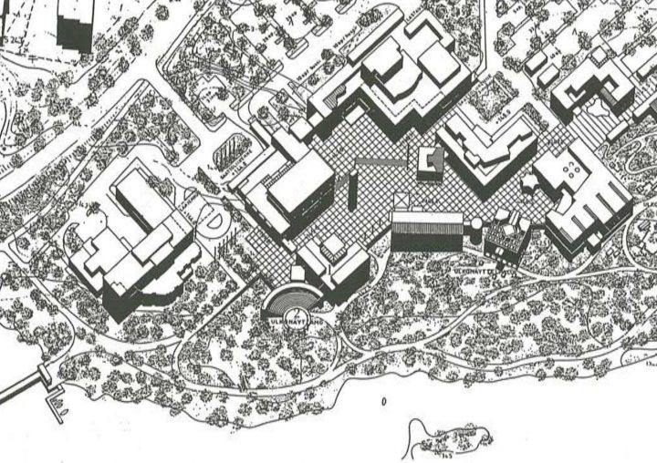Site plan, Kaukametsä Cultural Centre
