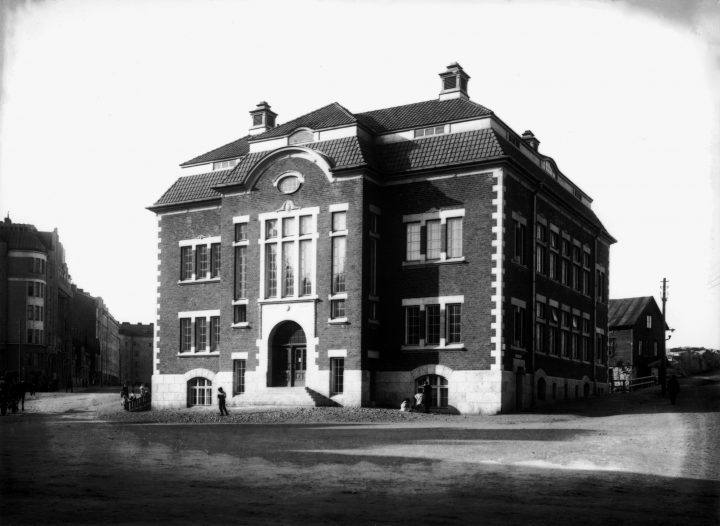 Kallio Library photographed in 1912, Kallio Library