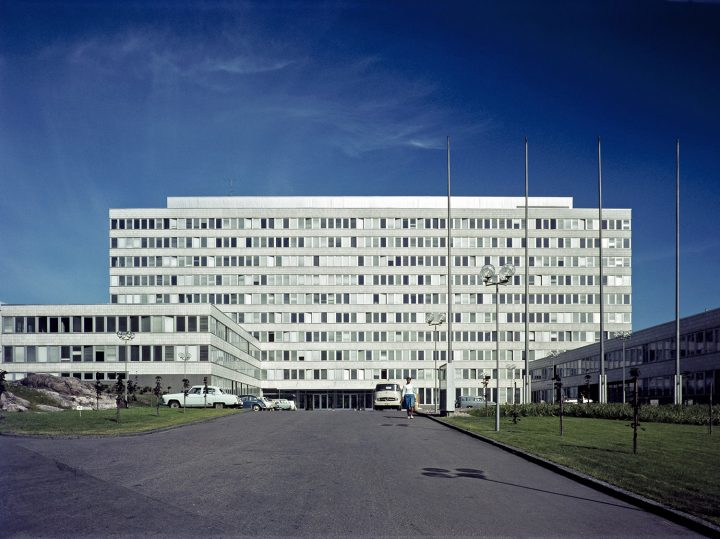 Kallio Municipal officies photgraphed from Ensi Linja in 1965, Kallio Municipal Office Building