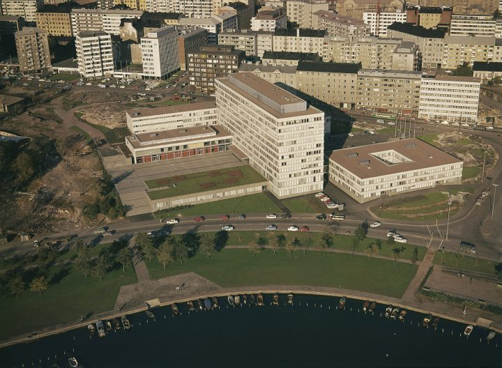 Aerial view from 1964, Kallio Municipal Office Building
