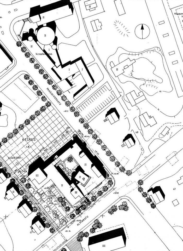 Site plan, Kankaanpää Art School