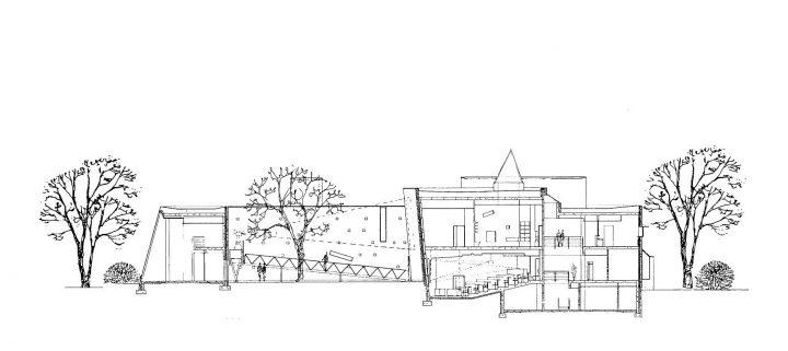Section plan, Kankaanpää Art School