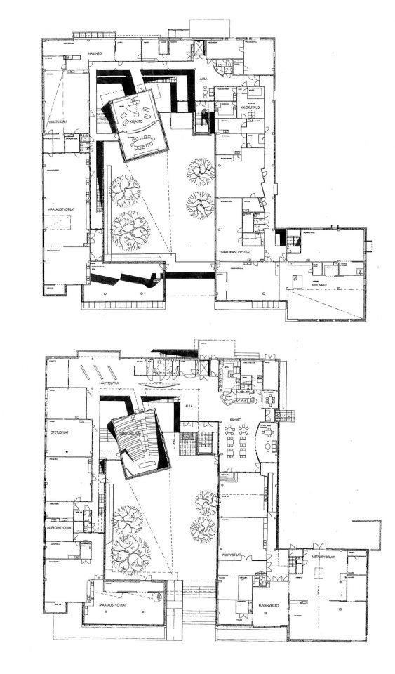 1st floor and ground floor, Kankaanpää Art School