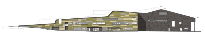 East elevation, Kannisto Community Centre