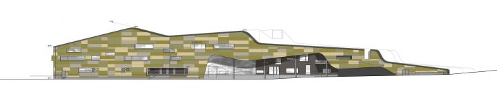 West elevation, Kannisto Community Centre