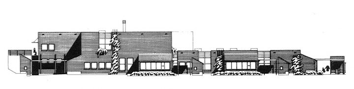 Elevation plan, Karviaistie Daycare Centre and School