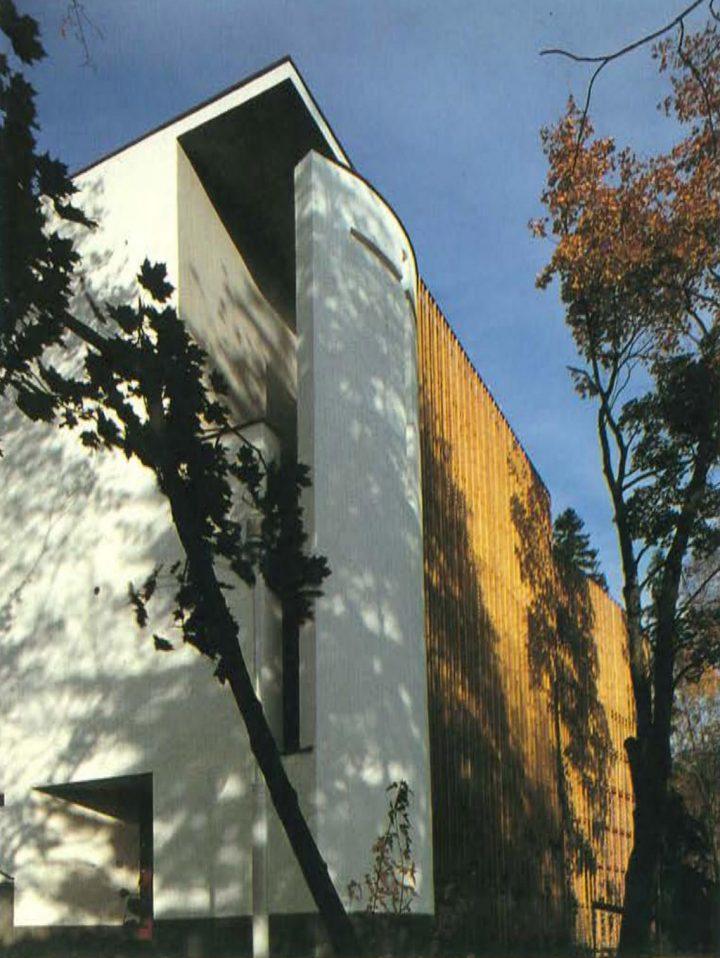 Detail of the façade, Kauniainen Church