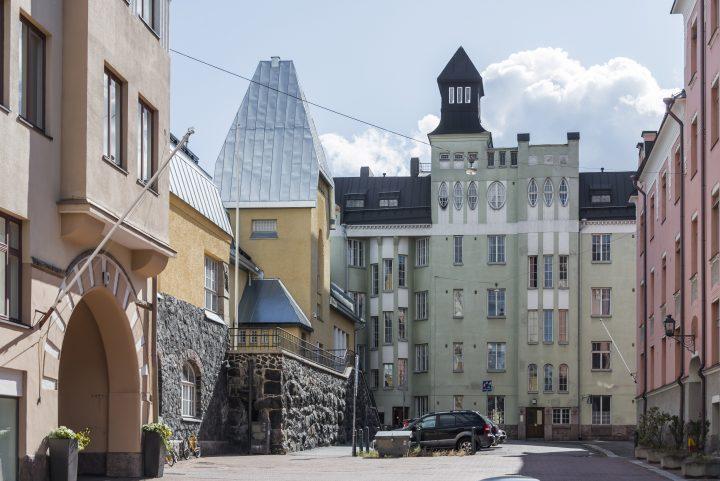 Oikokatu street view , Semigradsky School