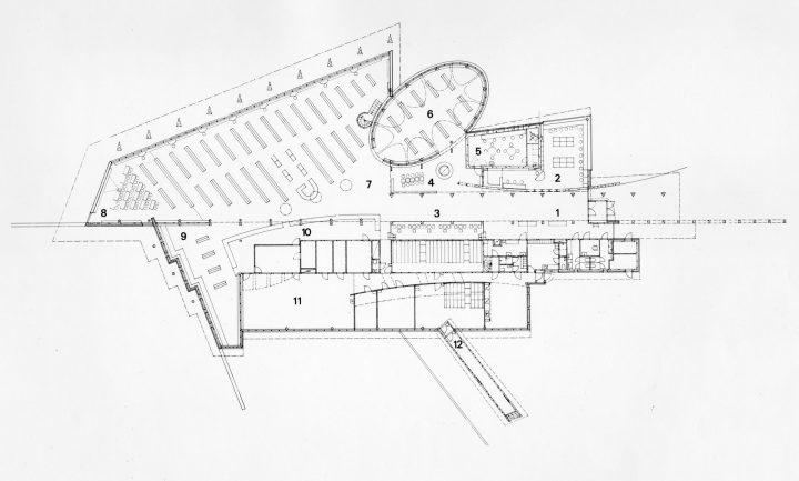 Floor plan, Kuhmo Town Library
