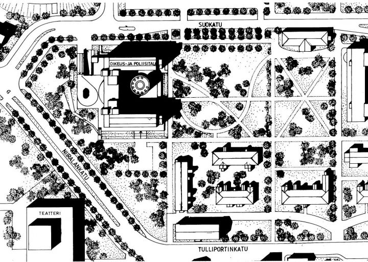 Site plan, Kuopio Court and Police House