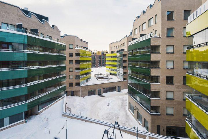 Courtyard view, Airut Housing Block