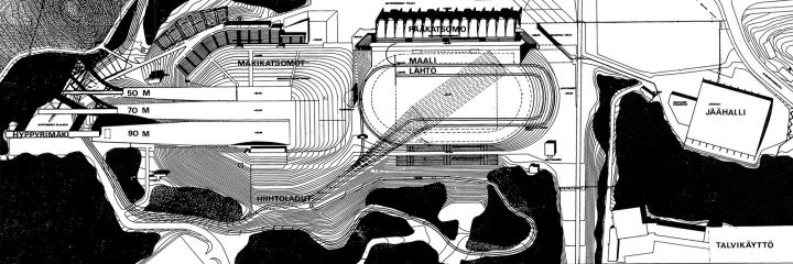 Site plan, Lahti Stadium