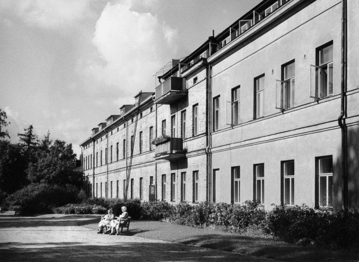 Elevation in the 1950s, Lapinlahti Hospital