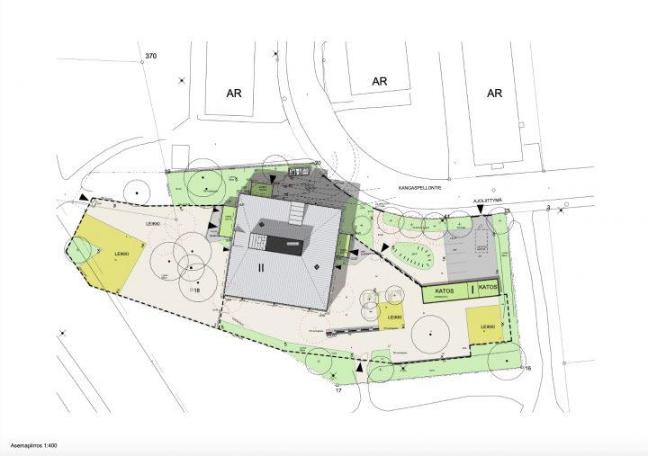 Site plan, Lapinmäki Daycare Centre