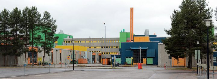 Coulour effects on the façades, University of Oulu Linnanmaa Campus