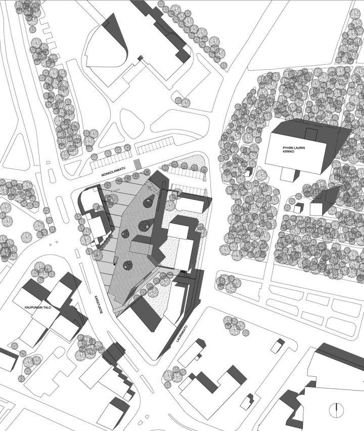 Site plan, Lohja Main Library