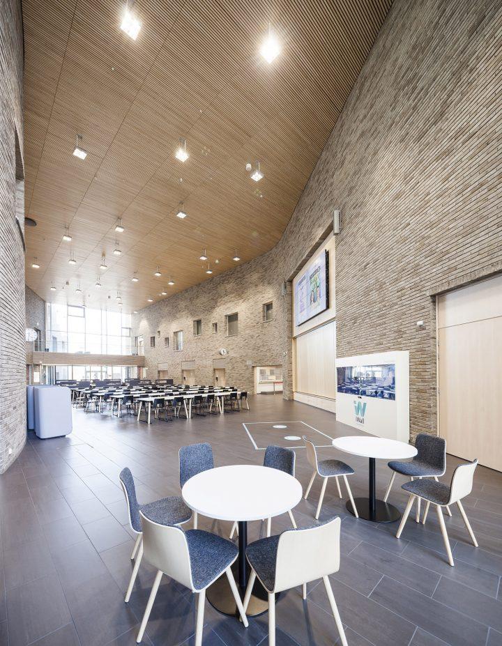 The hallway, Lehtikangas School and Community Centre