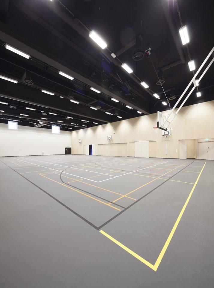 The gymnasium, Lehtikangas School and Community Centre