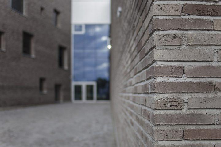 A detail of the façade, Lehtikangas School and Community Centre