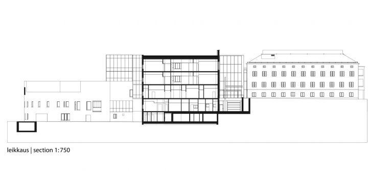 Section drawing, Malmi Hospital