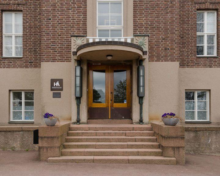 Main entrance, Mariehamn Navigation School