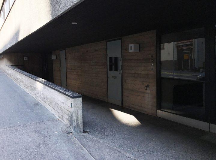 Ground floor main entrance, Merimiehenkatu Housing