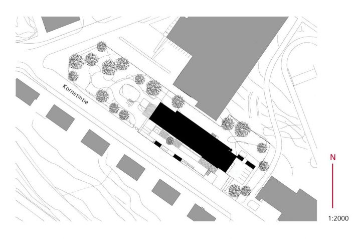 Site plan, Mestari Daycare Centre