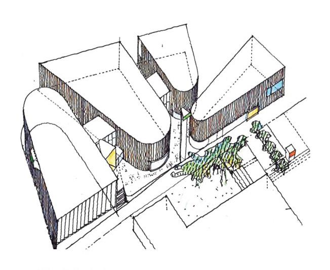 Rainer Mahlamäki´s sketch, Metropolia Myllypuro Campus