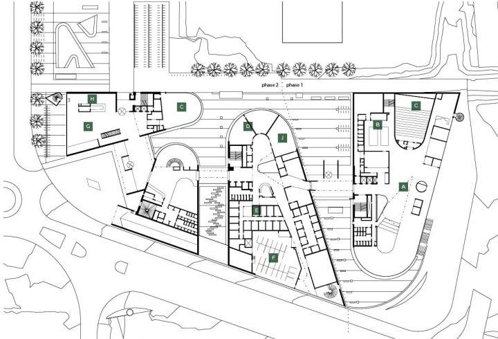 Site plan and ground floor, Metropolia Myllypuro Campus