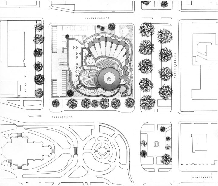 Site plan, Tampere Main Library Metso