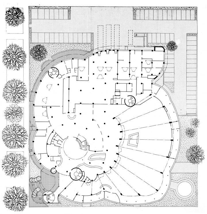 Floor plan, Tampere Main Library Metso