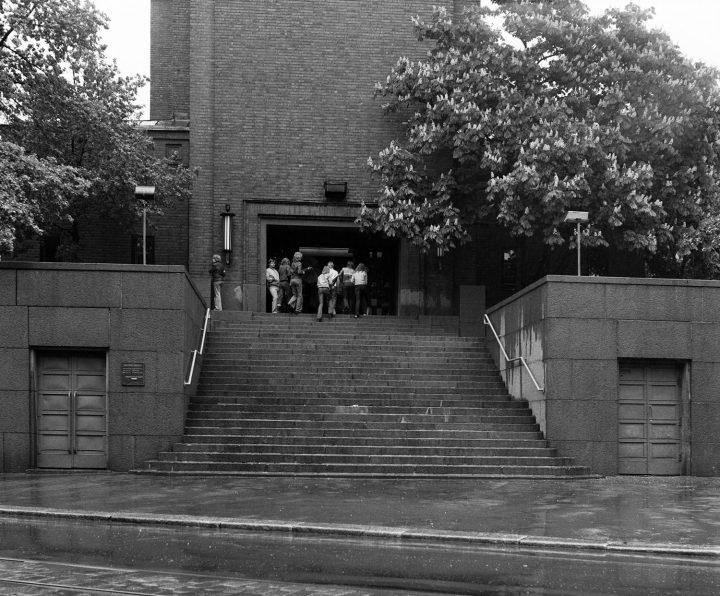 Main entrance, Mikael Agricola Church